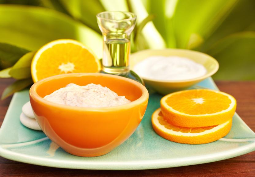 Produits huiles massage oranges - Massage en herbe